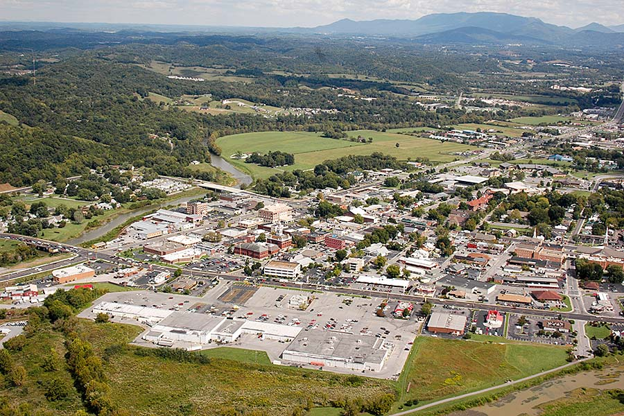 Sevierville, TN from the air