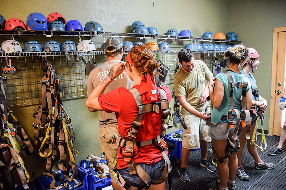 Gearing Up - Copyright 2019, Smoky Mountain Ziplines