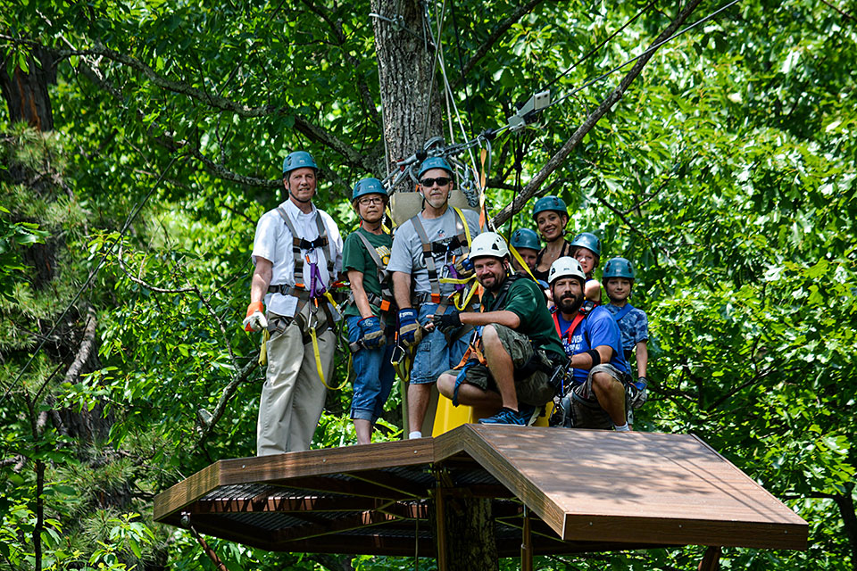 Group Shot at Smoky Mountain Ziplines - Copyright 2019, Smoky Mountain Ziplines