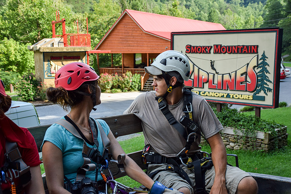 Headed up the Mountain to Zip - Copyright 2019, Smoky Mountain Ziplines