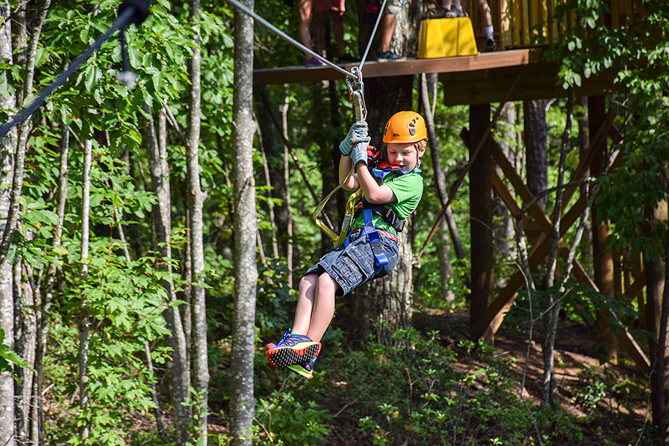 Kids Are Not Afraid - Copyright 2019, Smoky Mountain Ziplines