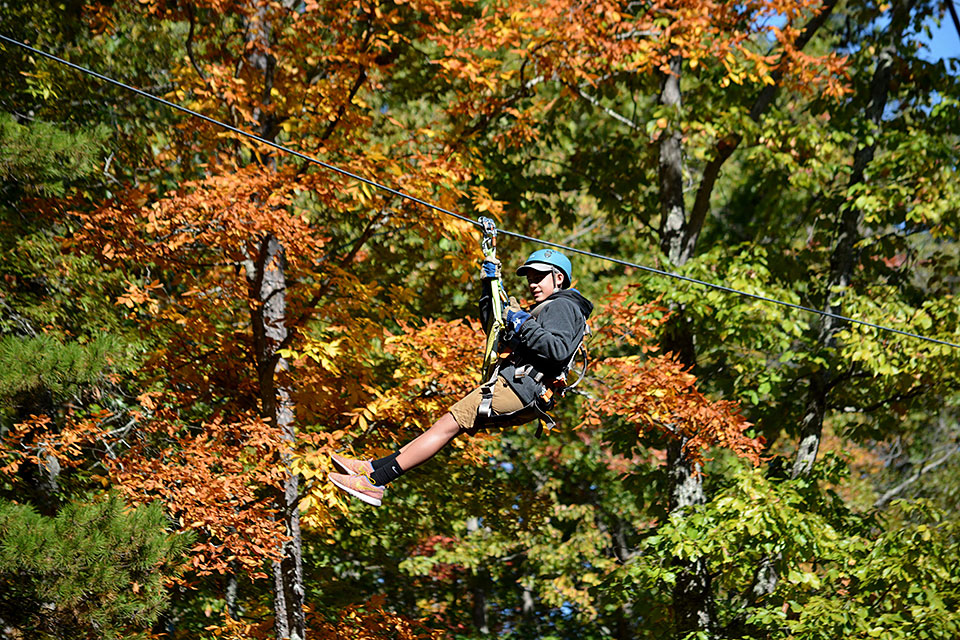Zip Line in the Smokies - Copyright 2019, Smoky Mountain Ziplines